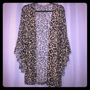Gorgeous leopard cardigan/kimono
